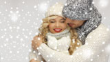Christmas atmosphere charmed a girl and boy. - thumbnail