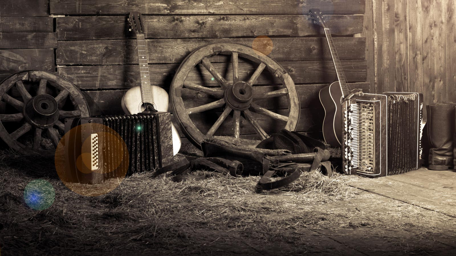 Folk musical instruments in the hayloft