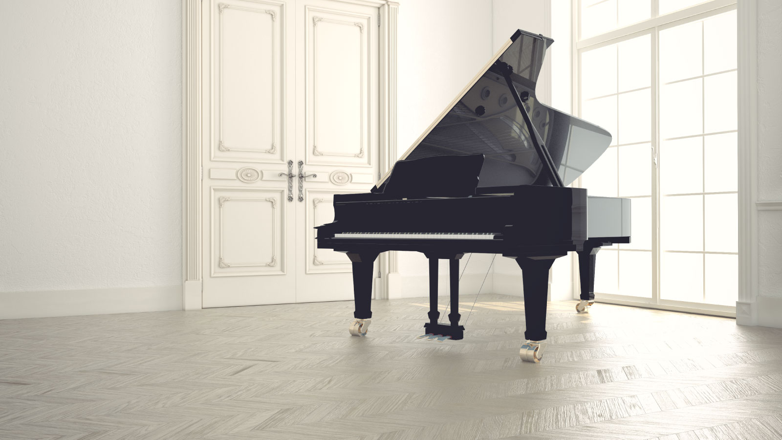 Grand piano in classic room