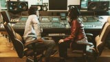 Pop music producers on the sound recording studio - thumbnail