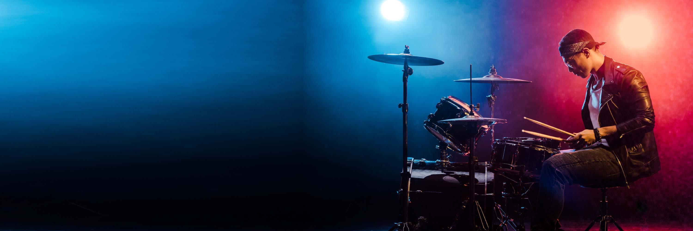 Musician playing royalty-free music